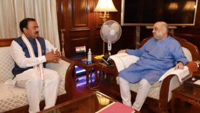 Photo of विधानसभा चुनावों को लेकर गृहमंत्री से मिले केशव प्रसाद मौर्य
